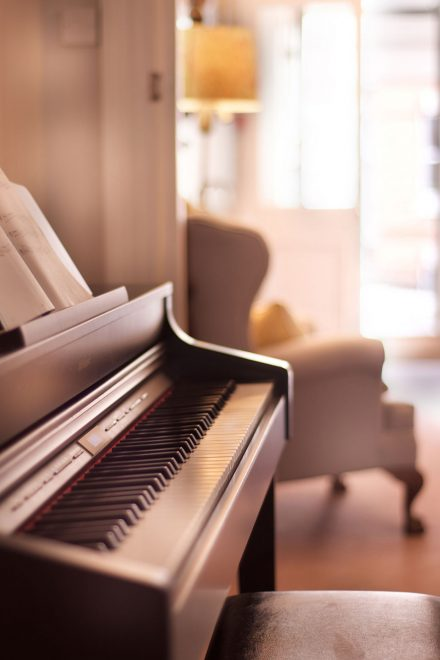 Boho Hotel in Bournemouth - Decorations and Piano